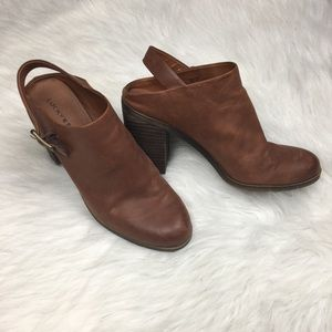 LUCKY BRAND machiko leather sling back clogs